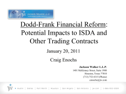 Dodd-Frank Financial Reform