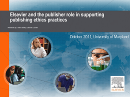 PowerPoint for Elsevier and the Publisher Role in Supporting