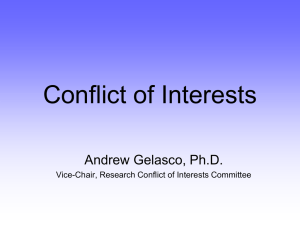 Intellectual Property and Conflict of Interest