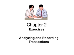 Chapter 2 - Accounting