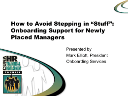 Onboarding and Retaining New Executives