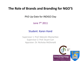 PhD Up-Date for INDIGO Day June 7th 2011