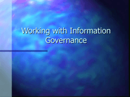 General Information Governance presentation