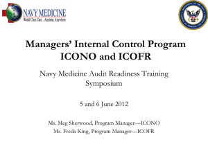 Internal Control Program-ICONO and ICOFR