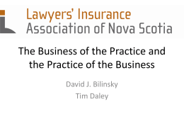 The Business of the Practice and the Practice of the Business