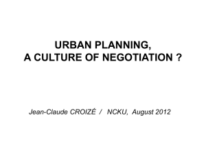 urban planning, a culture of negotiation