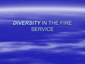 DIVERSITY IN THE FIRE SERVICE