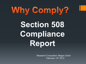 Powerpoint on Section 508 Compliance