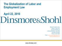 The Globalization of Labor and Employment Law