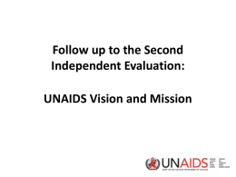 UNAIDS Vision and Mission