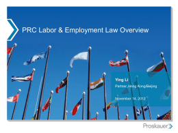Title of Presentation - International Labor and Employment Law