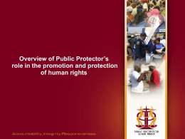 Public Protector striving to make fulfilment of human rights a reality