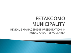 Fetakgomo Revenue Management