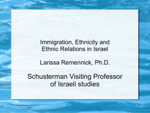 Immigration, Ethnicity and Ethnic Relations