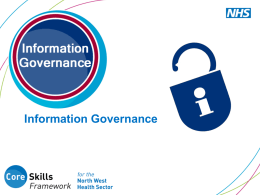 What is Information Governance?