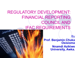 regulatory development: financial reporting council and ifac