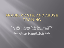 Fraud, Waste, and Abuse Training