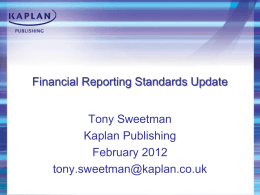 AAT Financial Reporting Standards Update Feb 2012