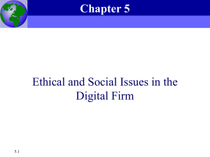 Chapter 5 Ethical and Social Issues in the Digital Firm
