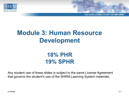 Module PowerPoint 3 - Pittsburgh Human Resources Association