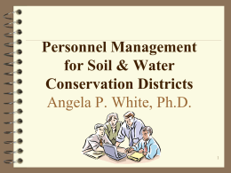 Personnel Management for SWCD Directors
