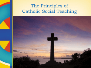 The Principles of Catholic Social Teaching