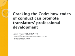 Cracking the Code: How Codes of Conduct Can Promote Translators