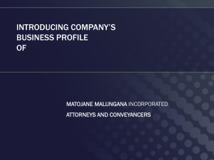 matojane malungana incorporated profile