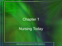 Chapter 1: Nursing Today