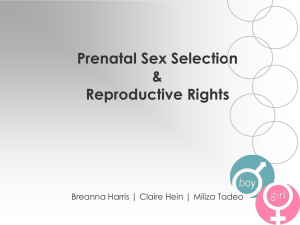 Sex selection and repro rights