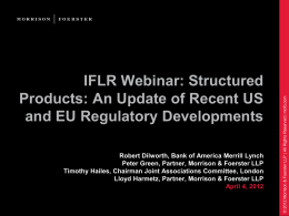 IFLR Webinar: Structured Products: An Update of Recent