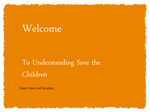 Understanding Save the Children