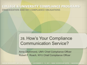 How`s Your Compliance Communication Service?