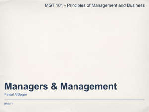 001 Management and Managers
