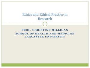 Ethics and Ethical Practice in Social Science Research
