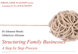 AO - Structuring A Family Business