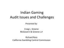 Indian Gaming Audit Issues and Challenges