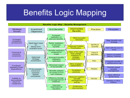 Benefits Logic Mapping Outline - APMG