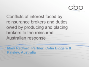 PPT Presentation Reinsurance Brokers 11 May 2010