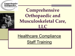 Protected health information - Comprehensive Orthopaedics and