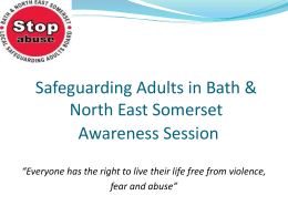 Safeguarding Adults Awareness Presentation