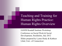 Teaching and Training for Human Rights