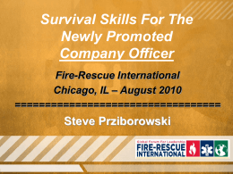 Leadership Lessons Learned - Code 3 Fire Training & Education