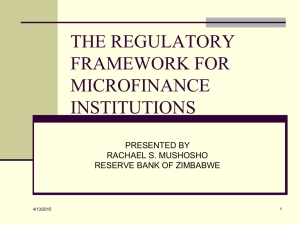 Best Practices in Mobile Microfinance
