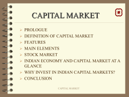 India Capital Market Update