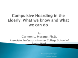 Hoarding Presentation - New York State Coalition for the Aging