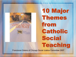 Ten Major Themes for Catholic Social Teaching