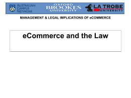 Legal implications of electronic commerce
