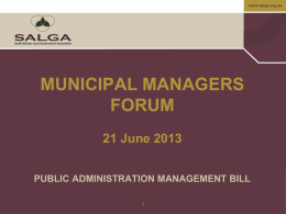 Public Administration Management Bill