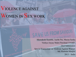 VIOLENCE AGAINST PEOPLE IN SEX WORK IN INDIA